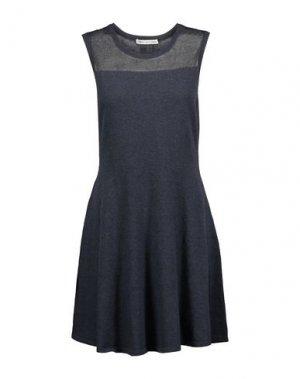 Короткое платье AUTUMN CASHMERE. Цвет: грифельно-синий
