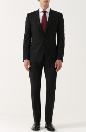 Шерстяной костюм с пиджаком на двух пуговицах Dolce & Gabbana. Цвет: чёрный