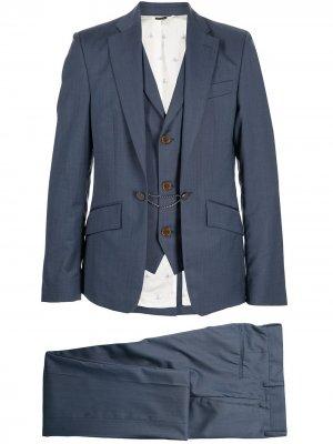 Костюм с однобортным пиджаком Vivienne Westwood. Цвет: синий