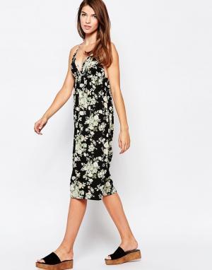 Платье-майка с розами Glamorous