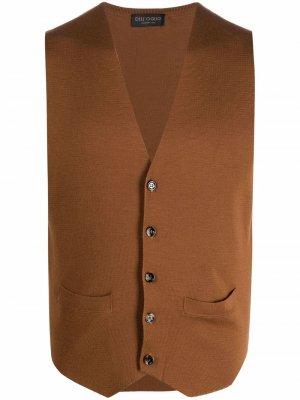 Delloglio шерстяной жилет с V-образным вырезом Dell'oglio. Цвет: коричневый