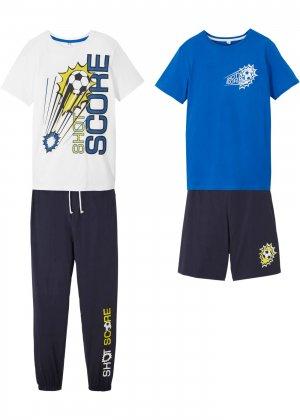 Топ, футболка, шорты и брюки (4 изд.) bonprix. Цвет: синий