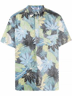 Рубашка Popover BD с цветочным принтом Engineered Garments. Цвет: черный