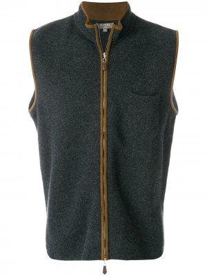 Кашемировый жилет N.Peal. Цвет: серый
