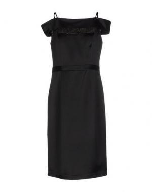 Платье до колена LEXUS. Цвет: черный
