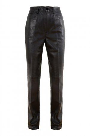 Черные кожаные брюки Alexander Wang.t. Цвет: черный