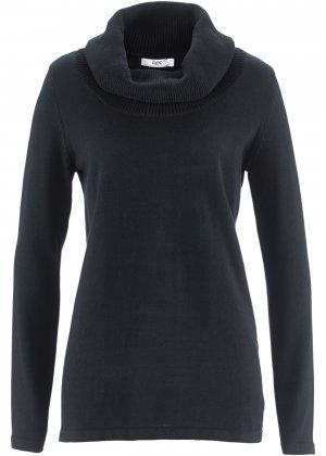 Пуловер с длинными рукавами bonprix. Цвет: черный