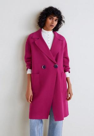 Пальто Mango - MUS. Цвет: розовый