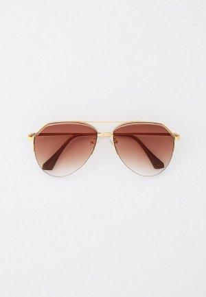 Очки солнцезащитные Marco Bonne`. Цвет: коричневый