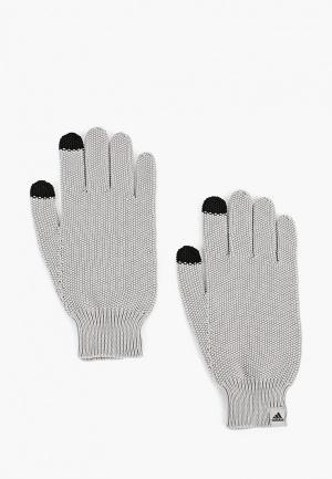Перчатки adidas W GLOVES. Цвет: серый