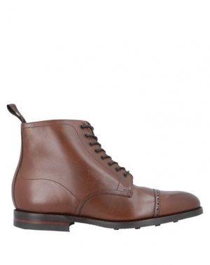 Полусапоги и высокие ботинки LOAKE. Цвет: коричневый