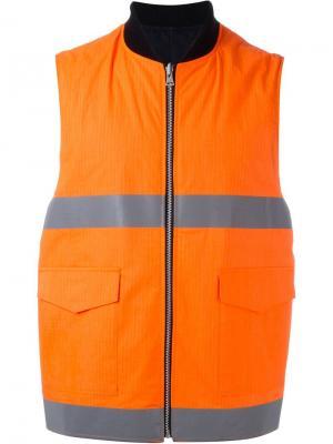Светоотражающий жилет Facetasm. Цвет: жёлтый и оранжевый