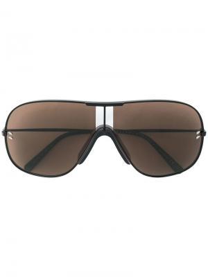 Солнцезащитные очки-авиаторы в тонкой оправе Stella McCartney Eyewear. Цвет: коричневый