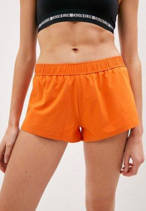 Шорты спортивные Calvin Klein Performance. Цвет: оранжевый