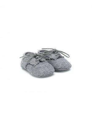 Пинетки на шнуровке Il Gufo. Цвет: серый
