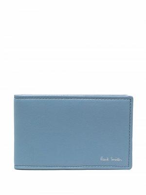 Бумажник с логотипом PAUL SMITH. Цвет: синий