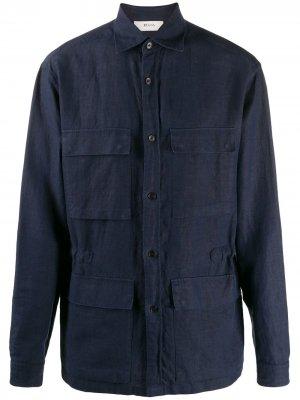 Рубашка с накладными карманами Z Zegna. Цвет: синий