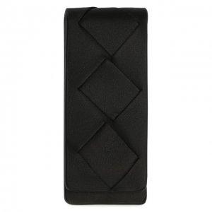 Кожаный зажим для денег Bottega Veneta. Цвет: чёрный