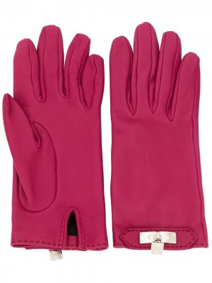 Перчатки Cadena с узором pre-owned Hermès. Цвет: фиолетовый