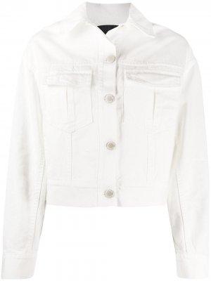 Укороченная джинсовая куртка Pinko. Цвет: белый