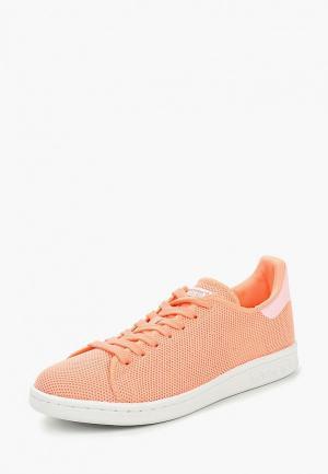 Кеды adidas Originals STAN SMITH. Цвет: коралловый
