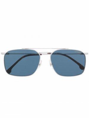 Солнцезащитные очки Dohku в квадратной оправе Carrera. Цвет: серебристый