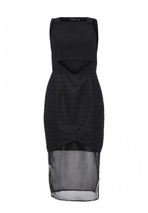 Платье LOST INK THE LABEL - FREYA MIDAXI DRESS. Цвет: черный