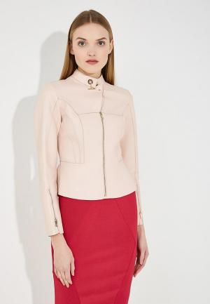 Куртка кожаная Marciano Los Angeles. Цвет: розовый