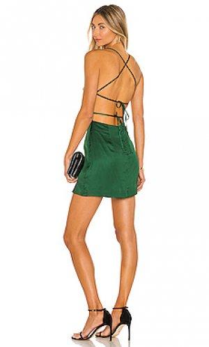 Платье dani Lovers + Friends. Цвет: зеленый