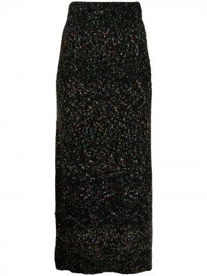 Вязаная юбка Gardenia Altuzarra. Цвет: черный