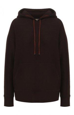 Кашемировый пуловер с капюшоном Loro Piana. Цвет: коричневый