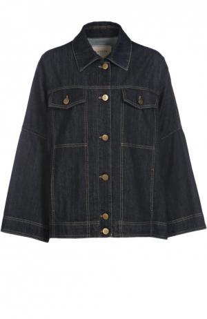 Джинсовая куртка свободного кроя с накладными карманами Lanvin. Цвет: синий