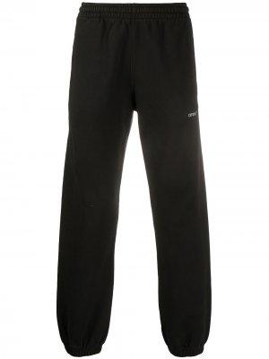 Arrows print track trousers Off-White. Цвет: черный