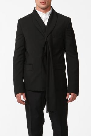 Пиджак Kris Van Assche. Цвет: черный
