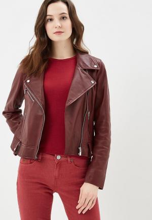 Куртка кожаная Arma Patti. Цвет: бордовый