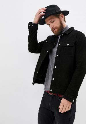 Куртка кожаная Matinique. Цвет: черный
