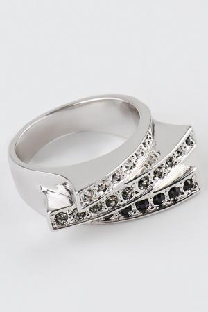 Кольцо Slava Zaitsev. Цвет: серебро, черный хрусталь