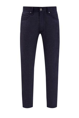 Утепленные джинсы с внутренней отделкой из шерстяной фланели CORTIGIANI. Цвет: синий