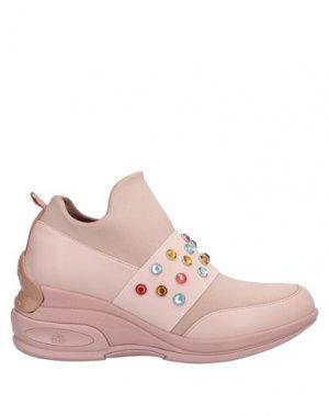 Низкие кеды и кроссовки FORNARINA. Цвет: розовый