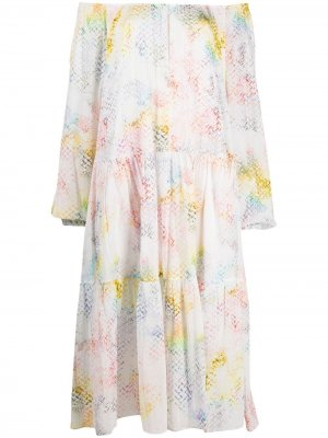 Платье Dorian с узором Lala Berlin. Цвет: белый