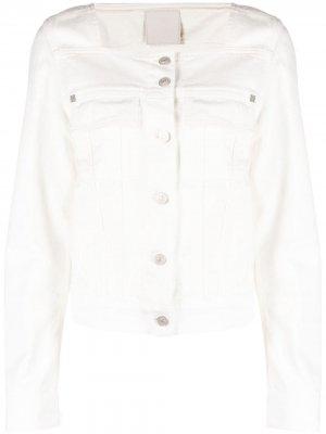 Джинсовая куртка с квадратным вырезом Givenchy. Цвет: белый