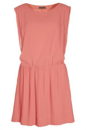 Плиссированное платье Apart. Цвет: оранжевый