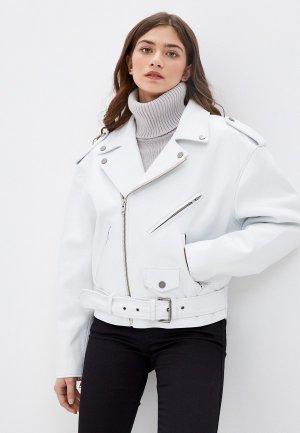 Куртка кожаная Major Fabric. Цвет: белый