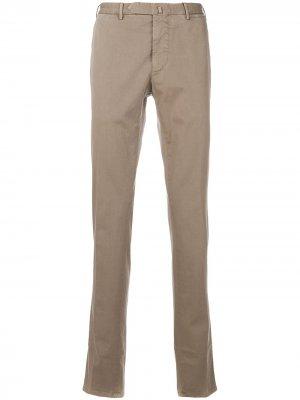 Delloglio классические приталенные брюки Dell'oglio. Цвет: нейтральные цвета