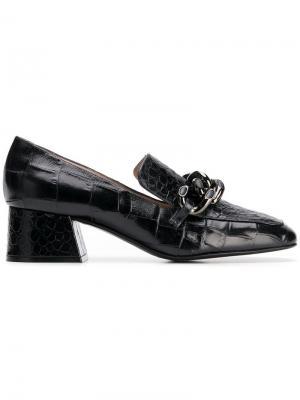 Туфли с эффектом крокодиловой кожи Alberto Gozzi. Цвет: синий