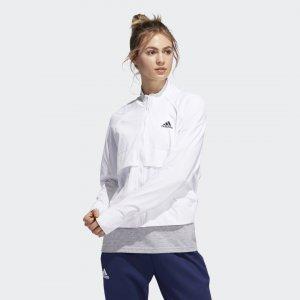 Куртка-бомбер VRCT Athletics adidas. Цвет: белый