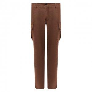 Шерстяные брюки-карго Altea. Цвет: бежевый
