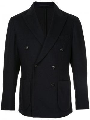 Пиджак на двух пуговицах United Arrows. Цвет: синий