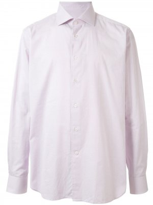 Рубашка с косым воротником Corneliani. Цвет: розовый