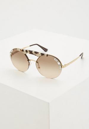 Очки солнцезащитные Prada PR 52US C3O3D0. Цвет: золотой